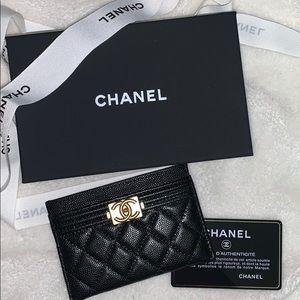 Chanel Boy Card Holder